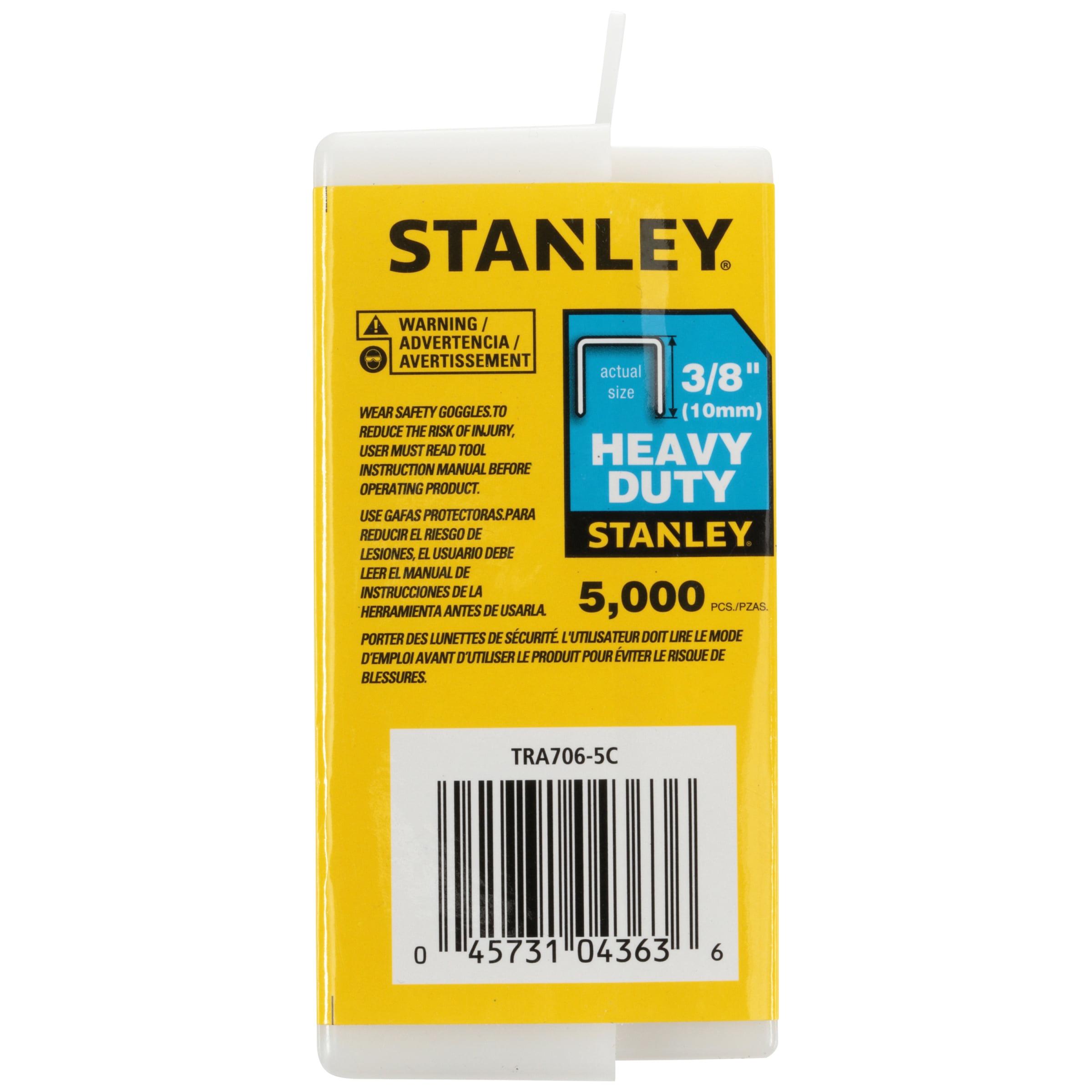 1000//Box Stanley Sharpshooter Staples TRA706T 3//8 Inch Leg Length