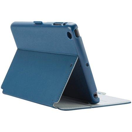 Speck Apple iPad mini/iPad mini 2/iPad mini 3 Style Folio Case, DeepSea Blue/Nickel Gray