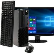 "Lenovo ThinkCentre M91 Desktop Computer PC, 3.20 GHz Intel i5 Quad Core Gen 2, 4GB DDR3 RAM, 500GB SATA Hard Drive, Windows 10 Home 64 bit, 19"" Screen Refurbished"