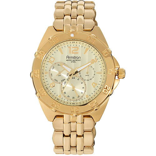 Armitron Men's Multi-Dial Gold Watch