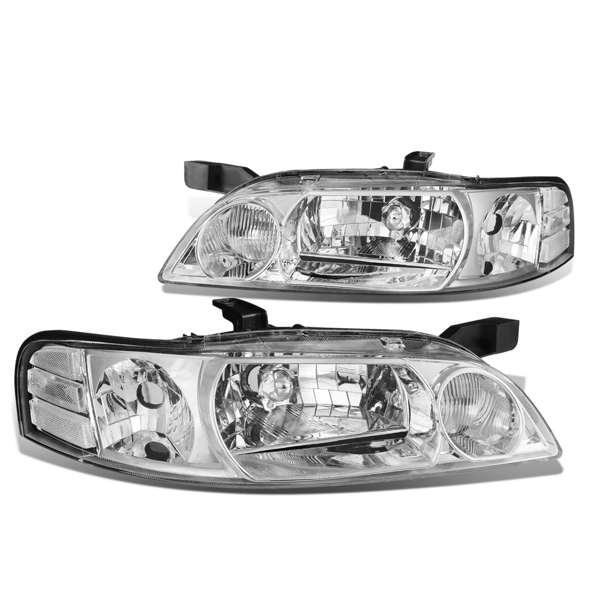 For 00-01 Nissan Altima Replacement Black Housing Clear Corner Headlight//Lamps