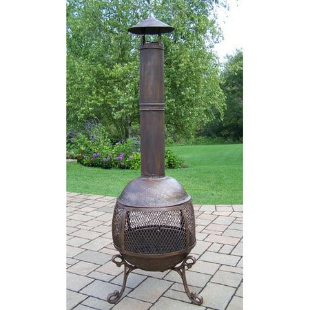 Oakland Living Fire Pits Cast iron Wood Burning (Cast Iron Pizza Oven Bbq Chimenea Chiminea Xl)