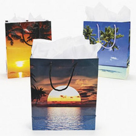 12 Sand & Sun Gift Bags Beach Wedding Event Luau Party Favor Sac Souvenir Bag - Luau Gift Bags
