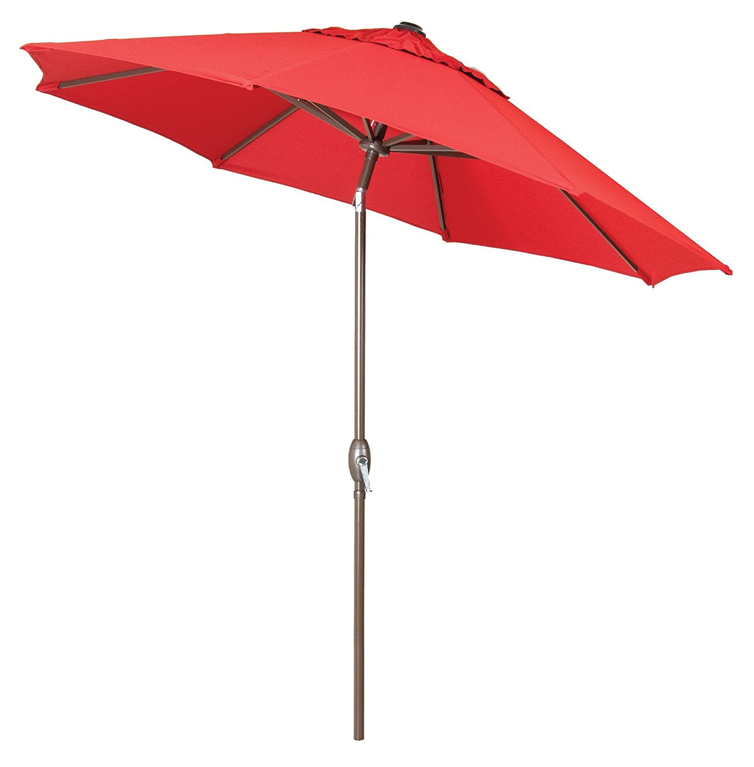 premium market outdoor patio umbrella bright red crank tilt stand sold separately walmartcom - Walmart Patio Umbrellas