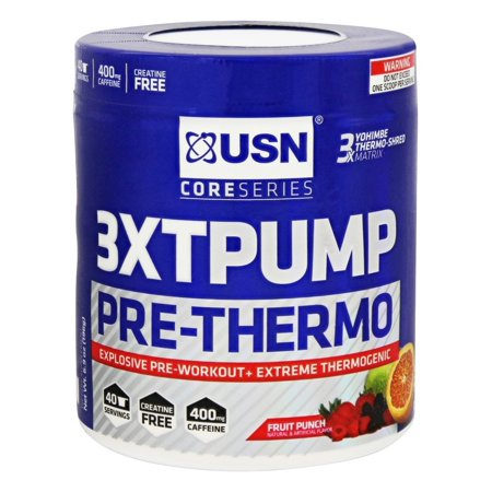 USN Supplements - Noyau série 3XT Pompe pré-Thermo Fruit Punch - 6,9 oz