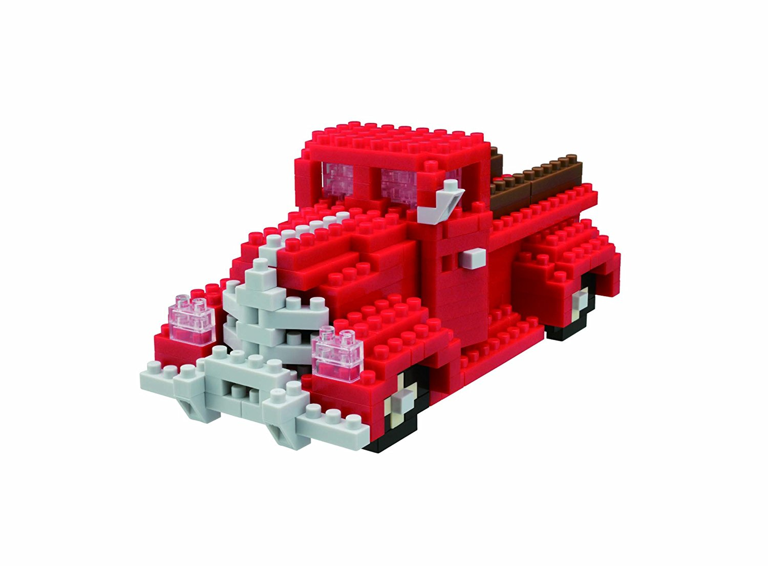 Classic Pick Up Truck Building Kit, coloured using soy ink By Nanoblock by
