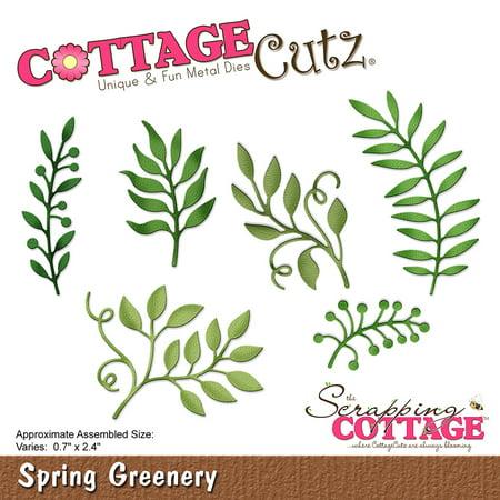 CottageCutz Dies-Spring Greenery, 0.7