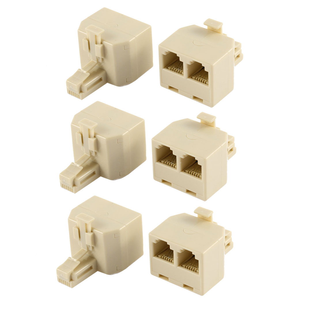 rj11 6p4c male to 2 female jack telephone phone line y