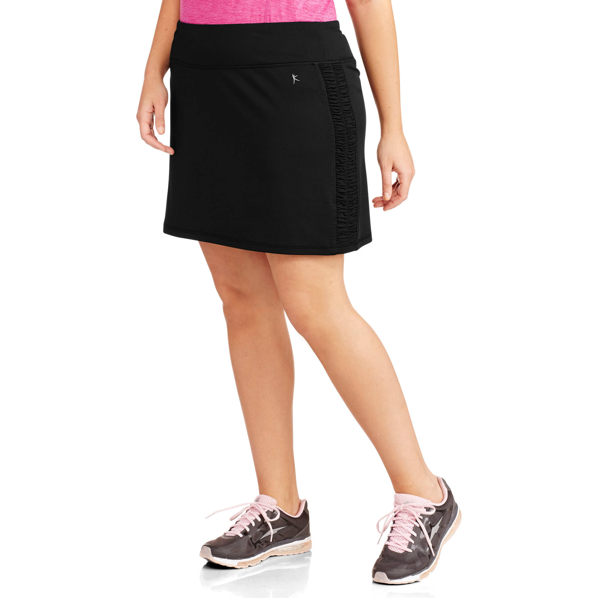 Danskin Now Women's Plus-Size Skort with Ruched Siding
