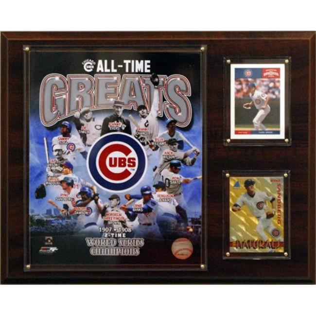 C & I Collectables 1215CUBSGR MLB 12 X 15 Chicago Cubs All -Time Great Photo Plaque