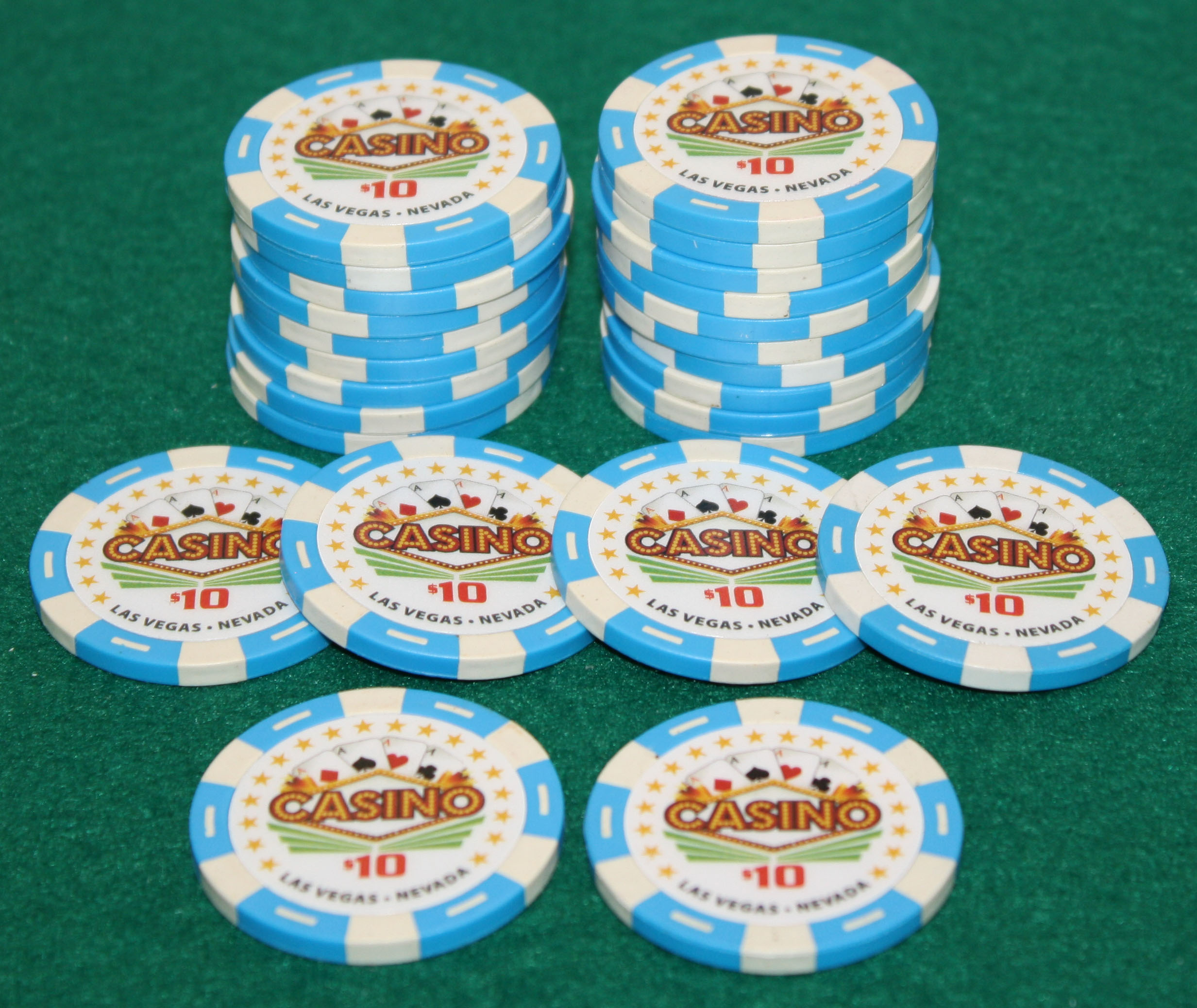 $10 Pro Vegas Casino Chips *Super High Quality* Poker Chip 11.5 Grams (QTY: 25) by