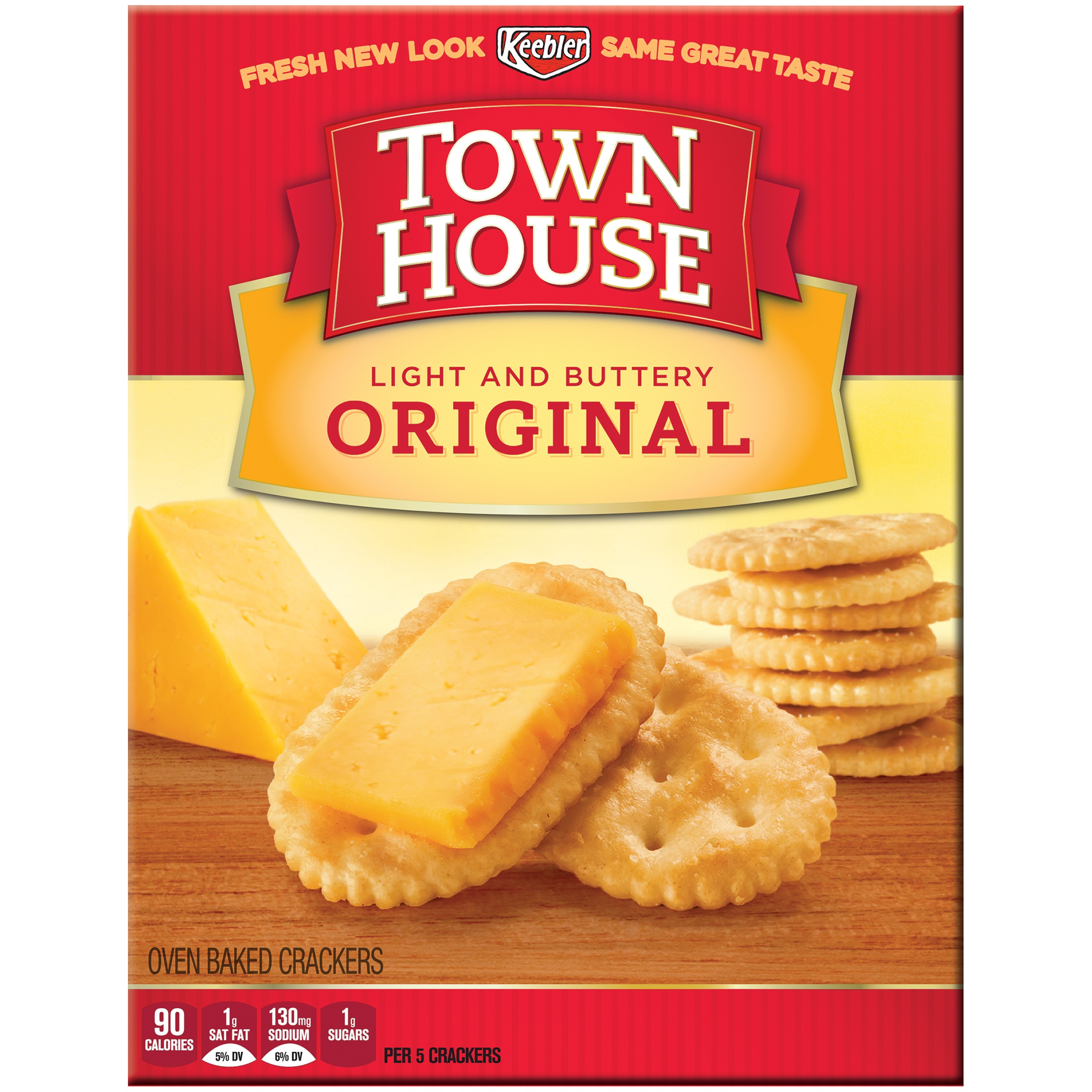 keebler town house crackers, original, 13.8 oz - walmart