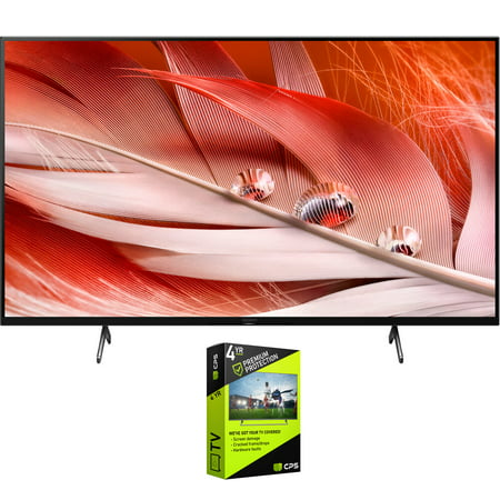 Sony XR75X90J 75 inch X90J 4K Ultra HD Full Array LED Smart TV 2021 Model Bundle with Premium 4 Year Extended Protection Plan