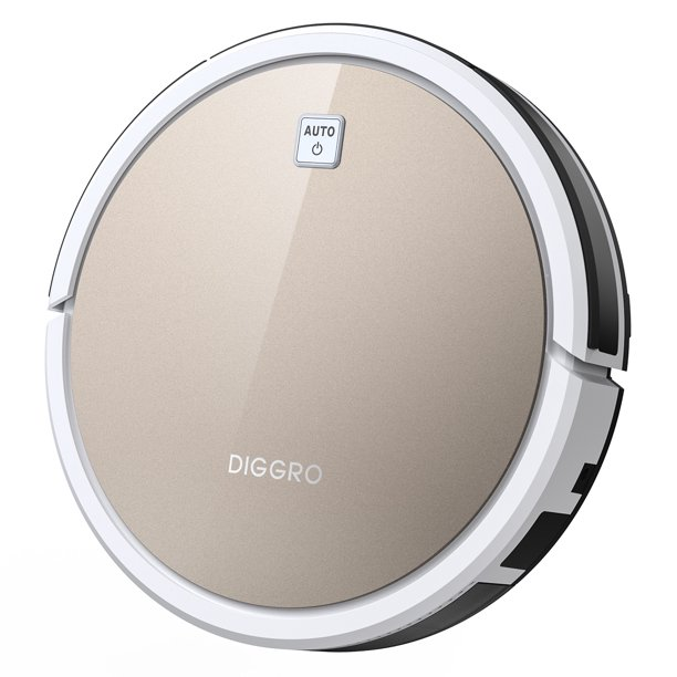 Robot Vacuum, Diggro D600 Sweeping Vacuum Machine, Remote Control Automatic Recharge, with 1600Pa Strong Suction for home