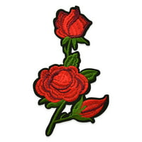 Expo Int'l Rita Iron-on Embroidered Roses Applique