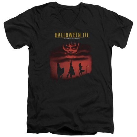 Halloween III Horror Movie Series Season Of The Witch Adult V-Neck T-Shirt Tee (The Halloween Movie Series)