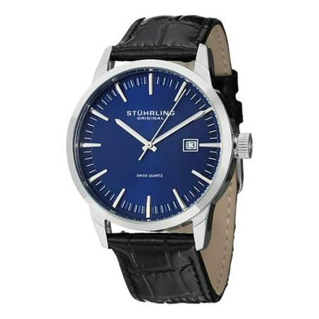 Stuhrling Original  Mens Ascot 42 Watch Set Swiss Quartz Interchangeable Strap Interchangeable Strap Watch