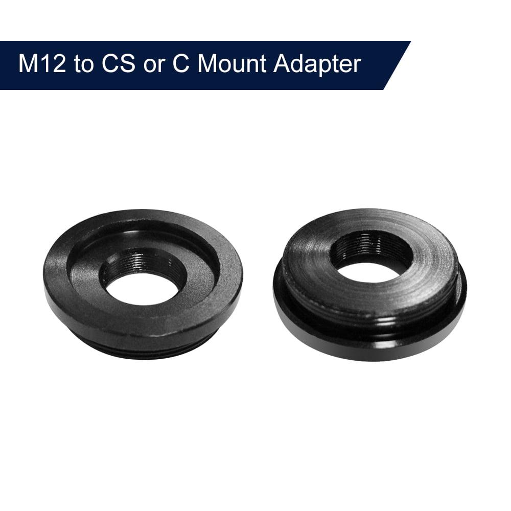M12 to CS//C Mount Lens Converter//Mount Adapter Ring for FPV Camera M12-C-CS