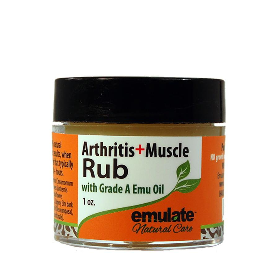 Emu oil rub