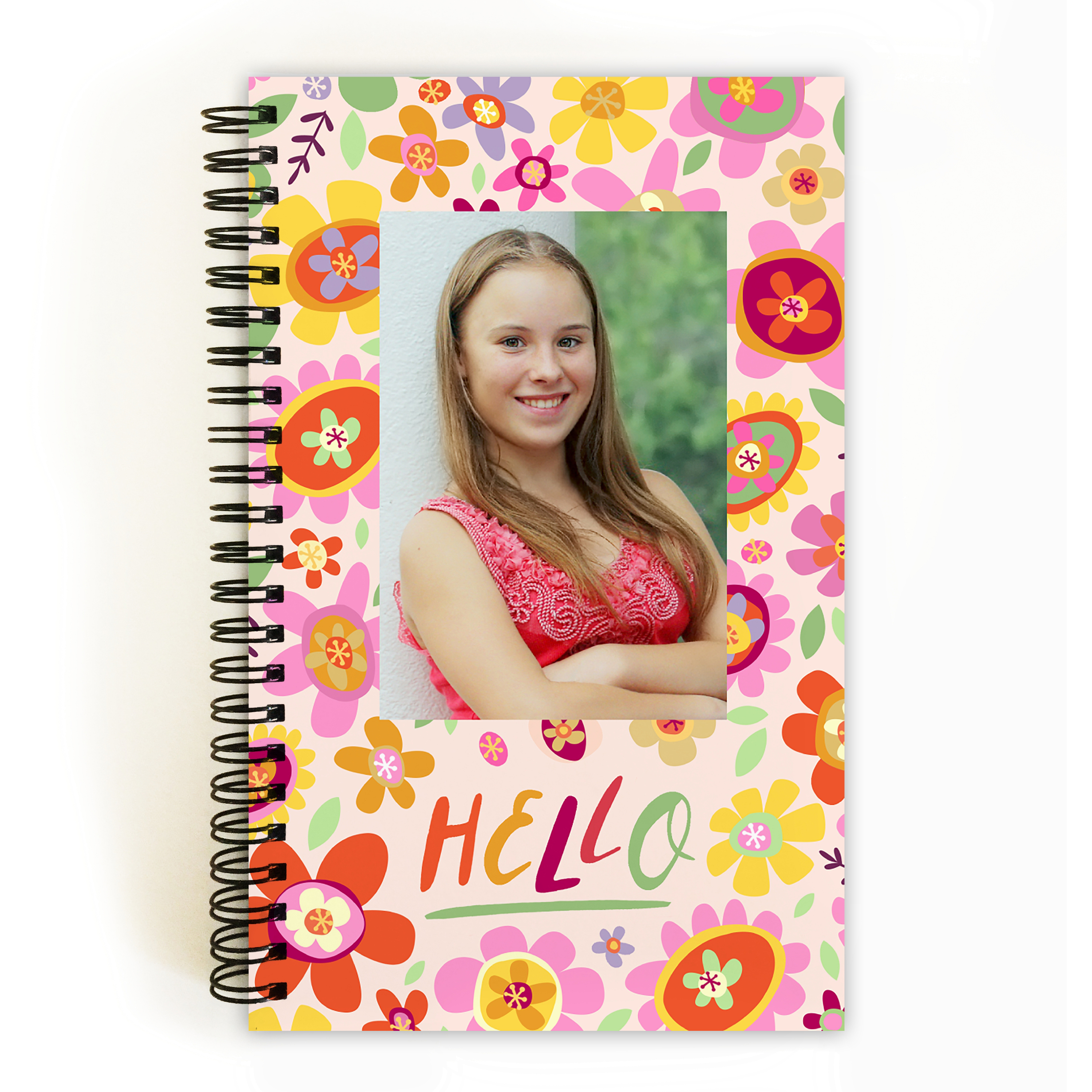 Bright Floral - Personalized 5 x 8 Notebook