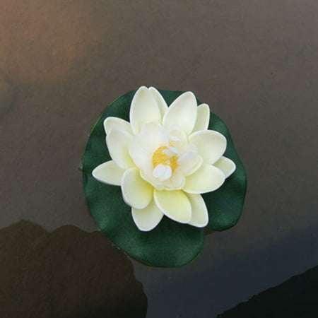 10cm Simulate Water Lily with 2-layer Flower Petals Fish Tank Pool Decoration - Pool Decorations