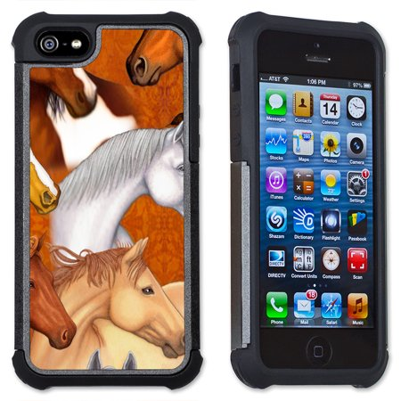 Apple iPhone 6 Plus / iPhone 6S Plus Cell Phone Case / Cover with Cushioned Corners - Horse Faces