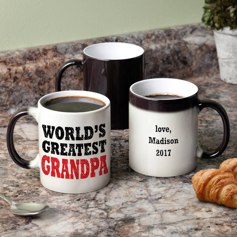 World's Greatest Grandpa Personalized Color Changing Coffee Mug - 11 oz