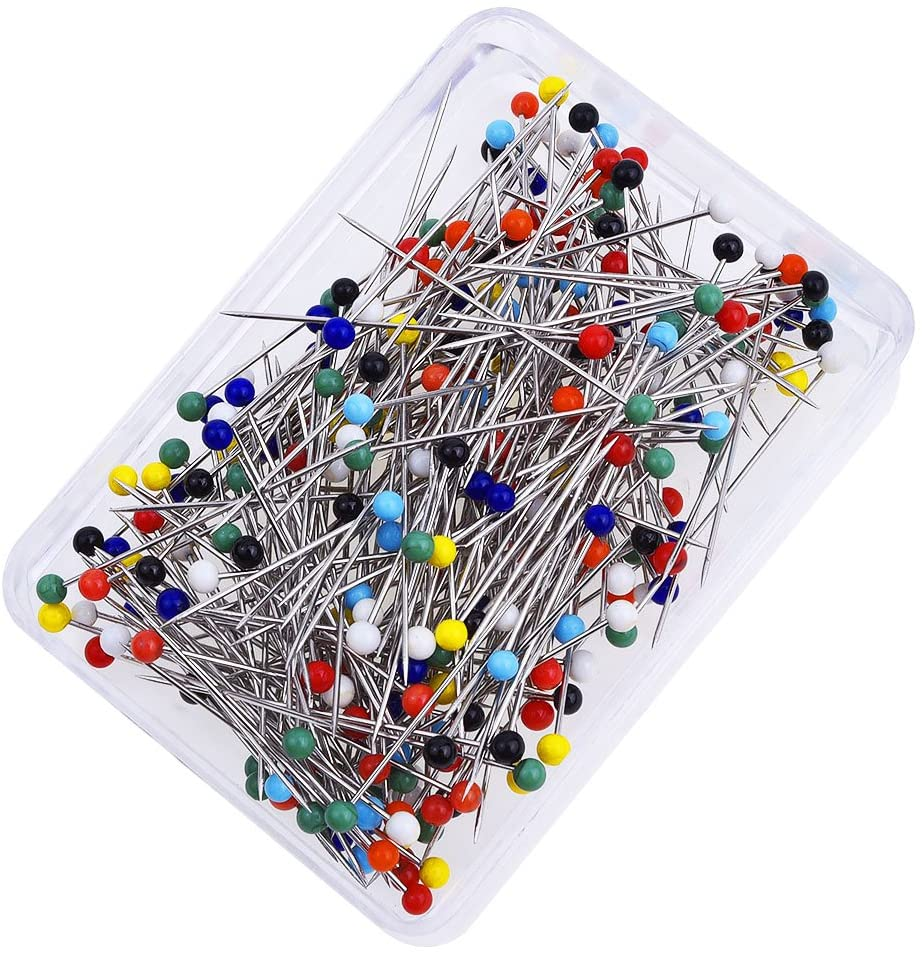 800 Pcs Ball Head Pins Sewing Quilting Extra Glass Head Dressmaker Pins With Transparent Cases 8 Colors