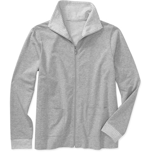 White Stag - Women's French Terry Stripe Collar Zip Jacket