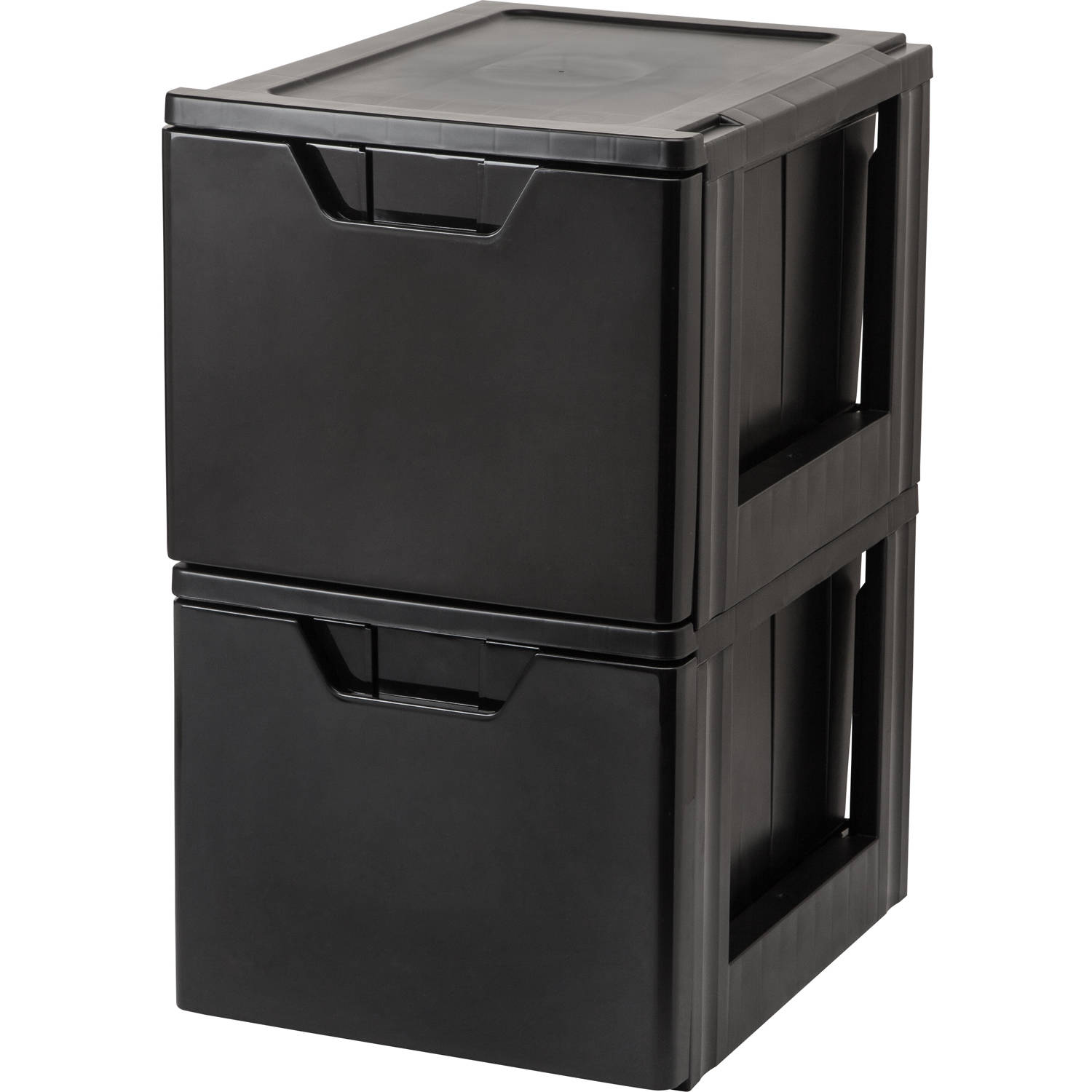 IRIS Letter Size Stacking File Storage Drawer, Black