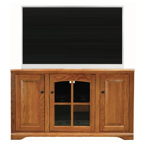 Eagle Furniture Oak Ridge 55 in. Corner Entertainment Console with One Glass Panel Door