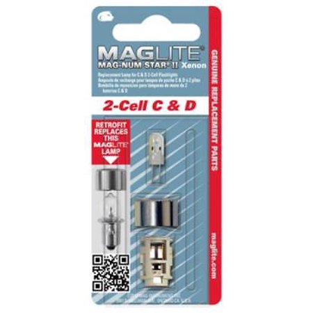 Magnum Star II Xenon Replacement Lamp For 2 Cell C Or D Maglite Incand (Maglite Magnum Star Xenon Lamp)