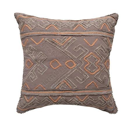 Better Homes & Gardens Down Alternative Filled Chenille Boho Diamond Decorative Throw Pillow, 18