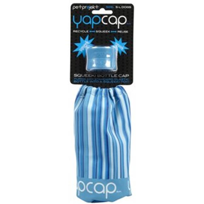 PetProjekt BYC710 YapCap Squeeki Plastic Water Bottle Dog Toy, Blue