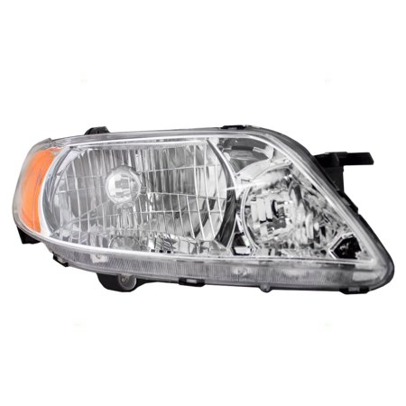 Mazda Mpv Replacement Headlight - Passengers Headlight Headlamp with Aluminum Bezel Replacement for Mazda BL8D510K0D