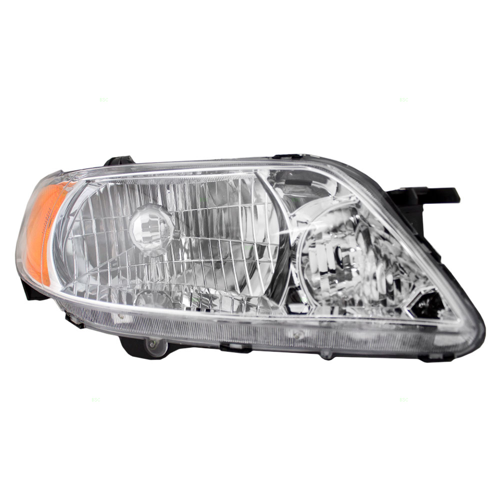 Passengers Headlight Headlamp with Aluminum Bezel Replacement for Mazda BL8D510K0D