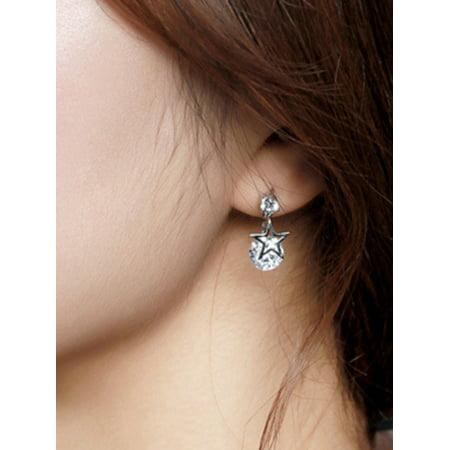 Crystal Star Stud (Lavaport Women Elegant Noble Bling Crystal Shiny Star Ear Studs )