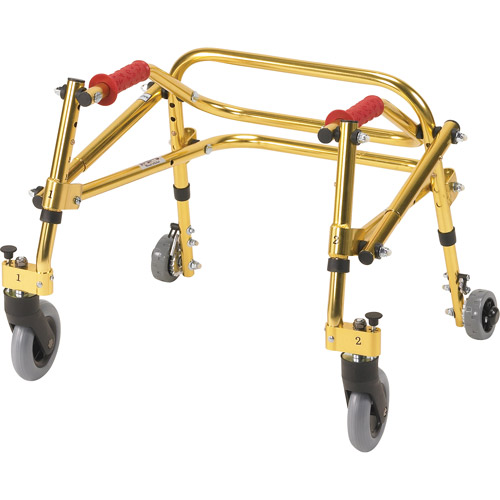 Drive Medical Nimbo Rehab Lightweight Posterior Posture Walker, Tyke, Golden Yellow