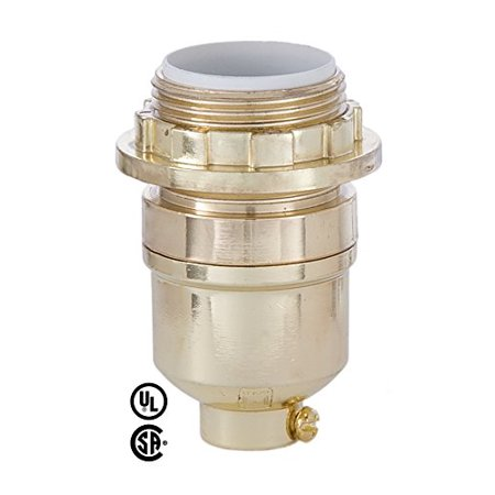 Antique Brass Finish Med Base Modern Keyless Lamp Socket With Uno Ring Antique Brass Finish Med Base Modern Keyless Lamp Socket With Uno Ring By