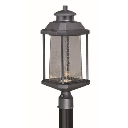 17.5W 9 in. Freeport LED Outdoor Post Light Textured Black, Clear Seeded Glass - image 1 of 1