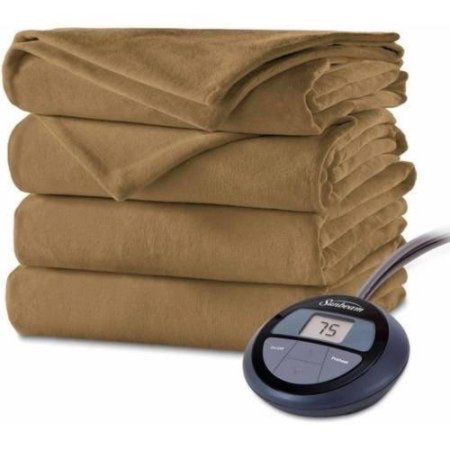 Sale Heated Blanket Twin Size (Sunbeam Electric Heated Velvet Plush Blanket, Twin)