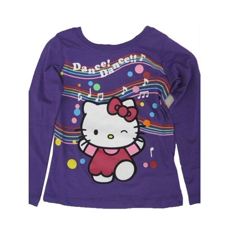 Little Girls Purple Applique Musical Notes Print Shirt (Girly Note)