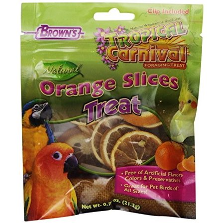 Brown's Tropical Carnival Orange Slices Bird Treat, 0.75 - Carnival Treats