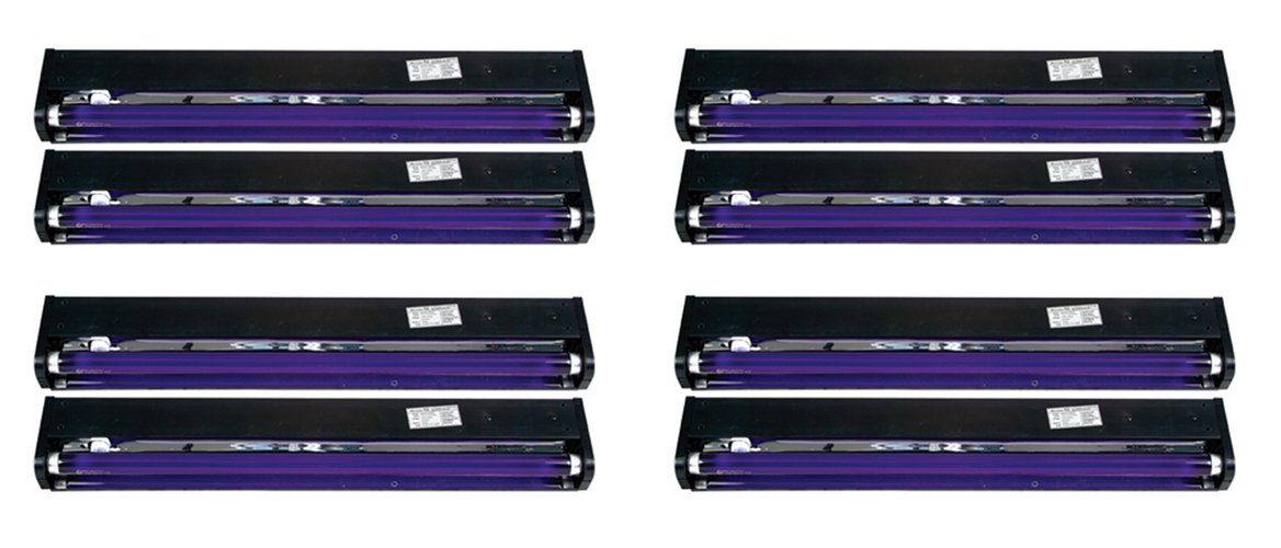 "8 AMERICAN DJ BLACK-24BLB 24"" UV Black Pro Blacklight Dorm Party Light Fixtures by ADJ"