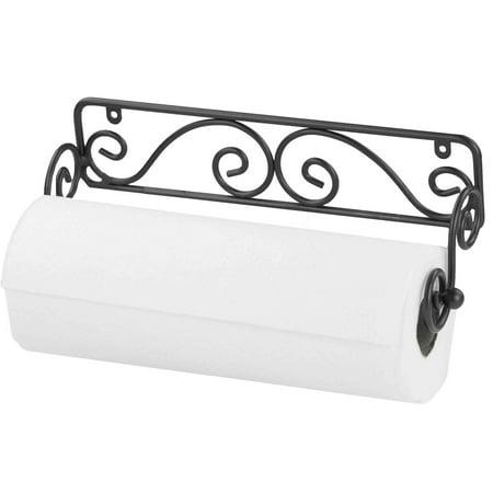 Home Basics Black Wall Mounted Paper Towel Holder
