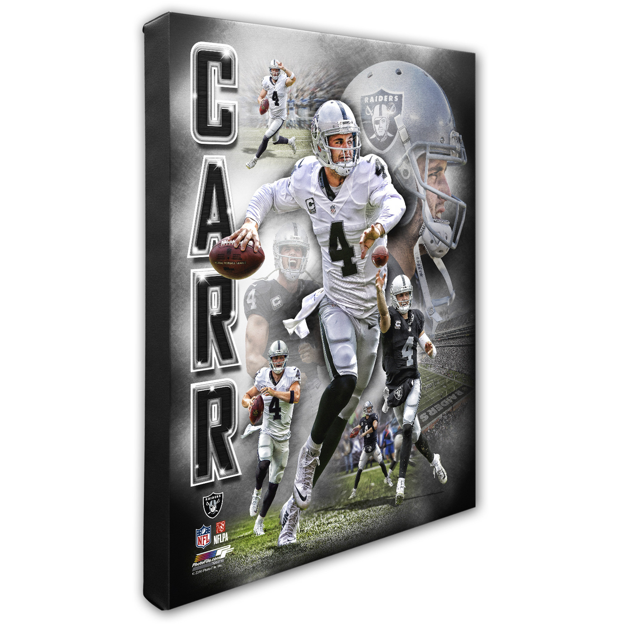 "Derek Carr Oakland Raiders 16"" x 20"" Player Portrait Canvas - No Size"