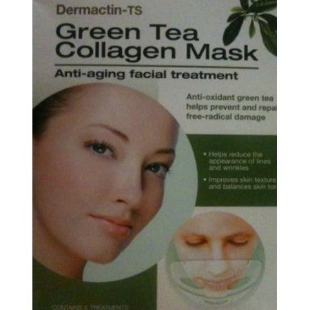 dermactin-ts collagen mask, green tea