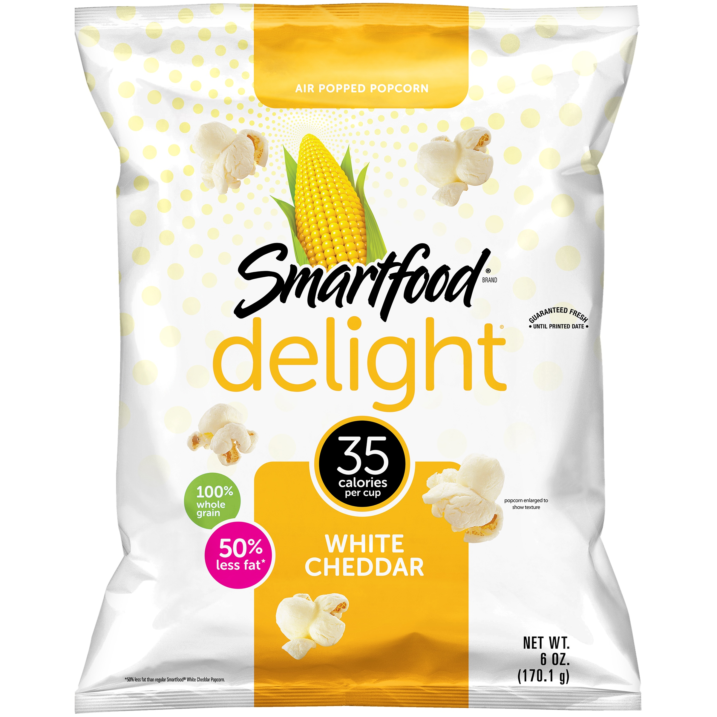 Smartfood Delight White Cheddar Popcorn, 6 oz Bag