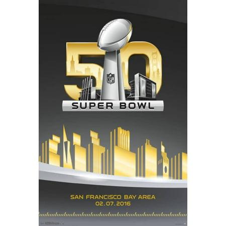 Super Bowl 50- Logo Poster - 22x34](Super Bowl Decor)