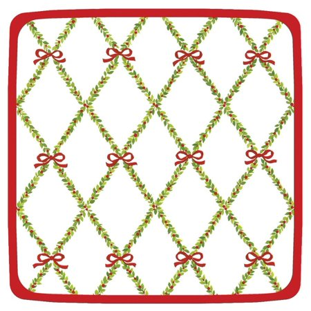 Garden Trellis Square Salad Dessert Plates  Red  Pack Of 8  Wind Easy Support Black Conversations Seating Napkin Michael Easily Questions Pack Entertaining    By Entertaining With Caspari